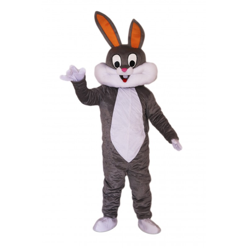 Cute Gray & White Rabbit Mascot Costume on Clearance
