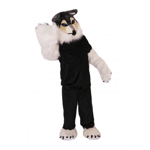 Police Wolf Mascot Costume on Clearance