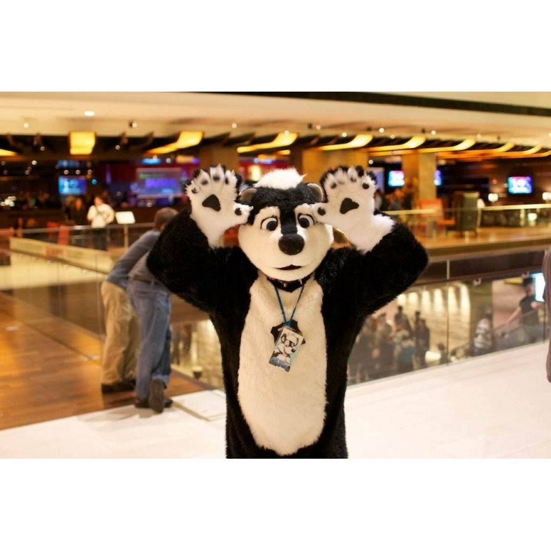 Big Skunk Mascot Costume