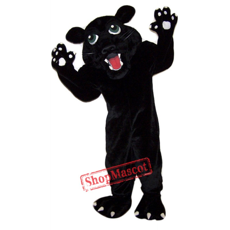 Fierce Black Panther Mascot Costume