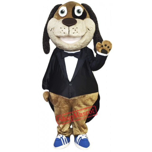 Gentleman Dog Mascot Costume