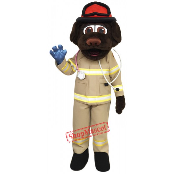Fire Department Dog Mascot Costume