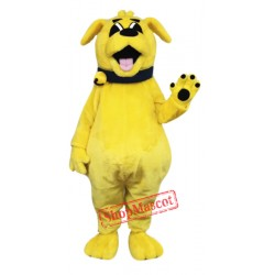 Cute Yellow Dog Mascot Costume