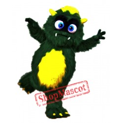 Cute Green Monster Mascot Costume
