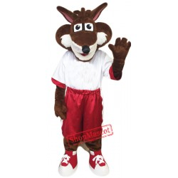 College Fox Mascot Costume Free Shipping