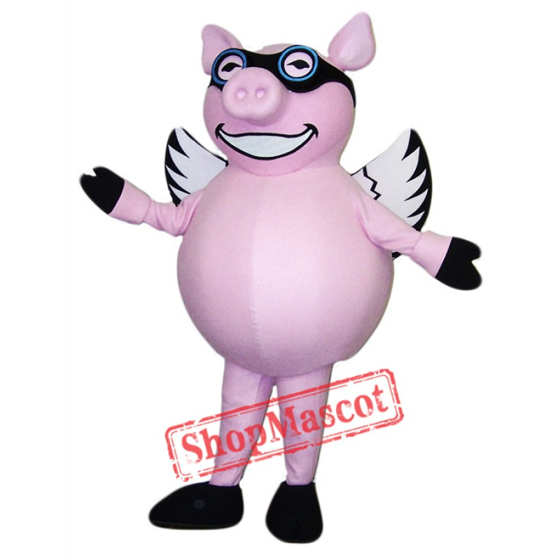 Flying Pig Mascot Costume