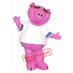 High Quality Pink Pig Mascot Costume