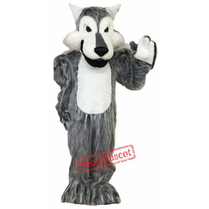 High Quality Gray Wolf  Mascot Costume