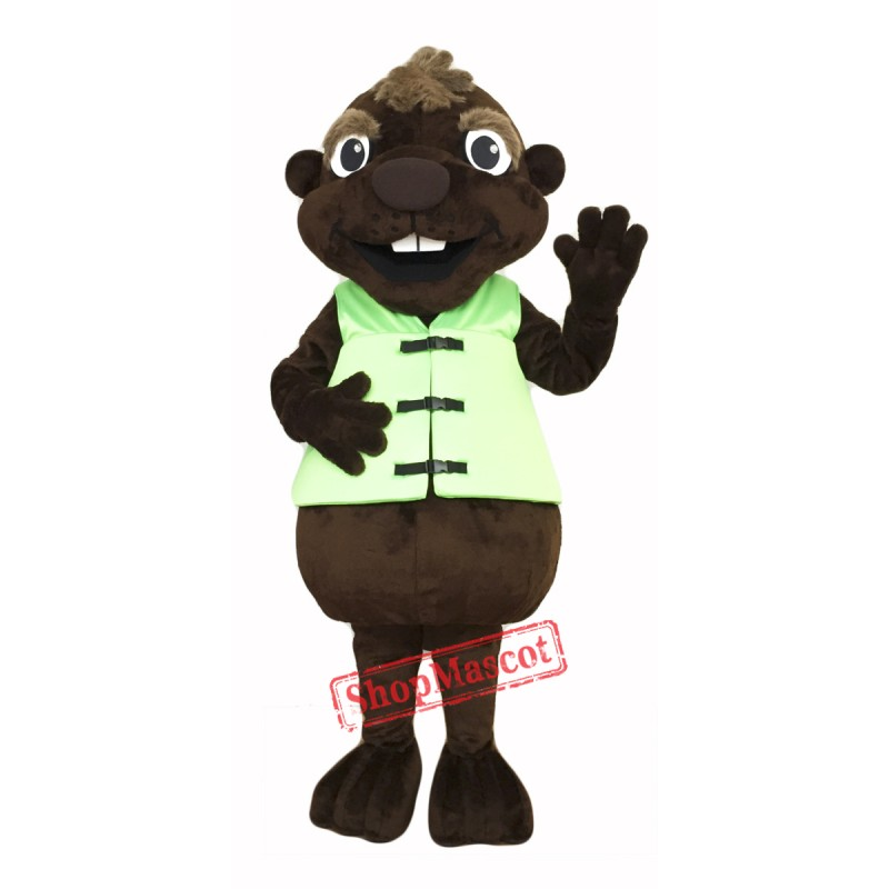 Chocolate Beaver Mascot Costume