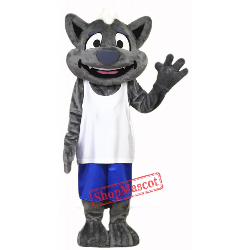 Happy Little Wolf Mascot Costume