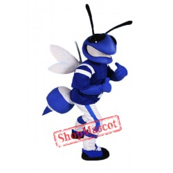 Blue Bee Mascot Costume