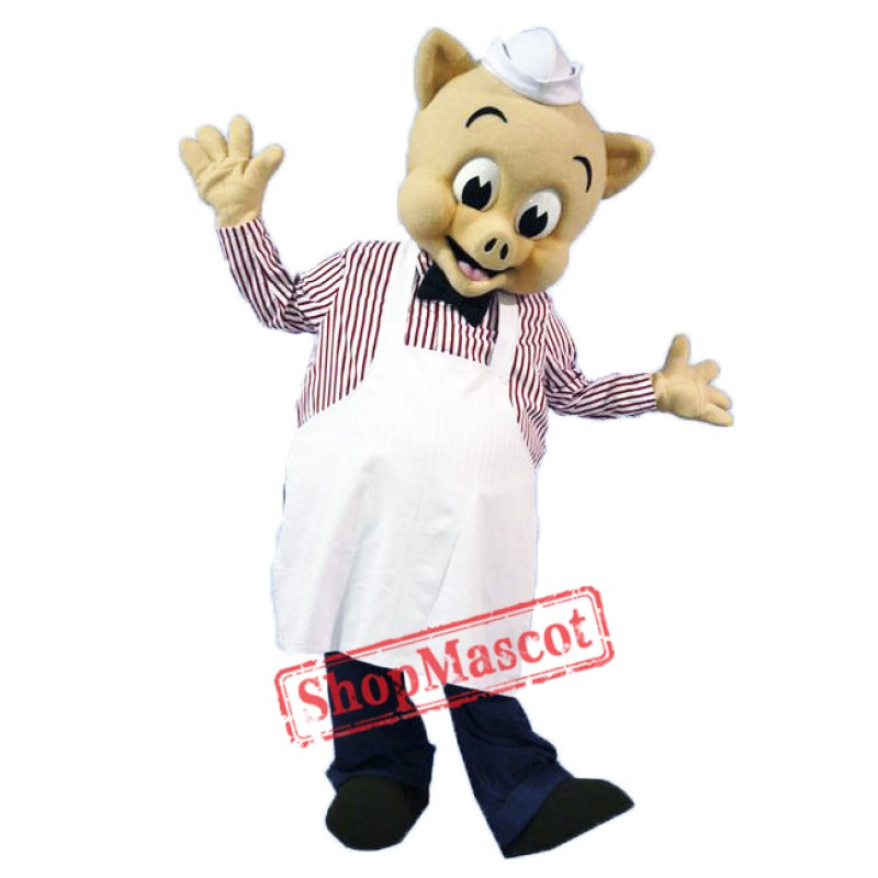 High Quality Chef Pig Mascot Costume