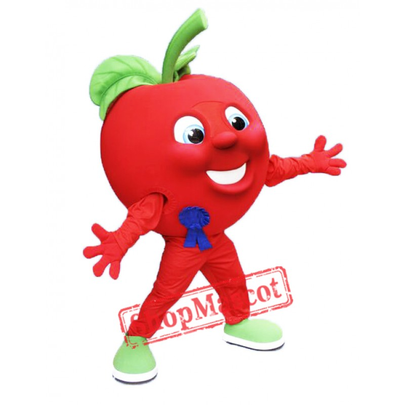 Red Apple Mascot Costume