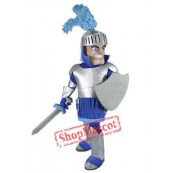 Blue & Silver Knight Mascot Costume