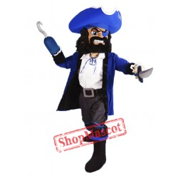 Blue Pirate Mascot Costume