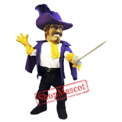 Purple Cavalier Mascot Costume