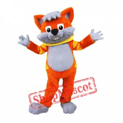 Orange Cat Mascot Costume