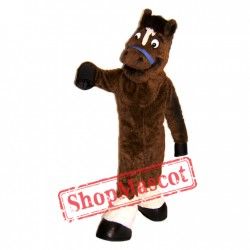 High Quality Brown Horse Mascot Costume