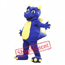 College Blue Dragon Mascot Costume
