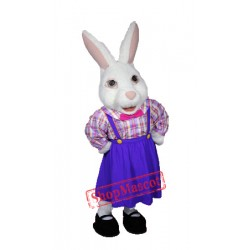 Lady Easter Bunny Mascot Costume