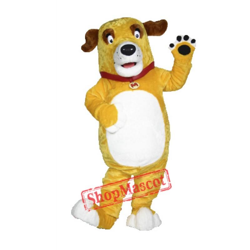 High Quality Yellow Dog Mascot Costume