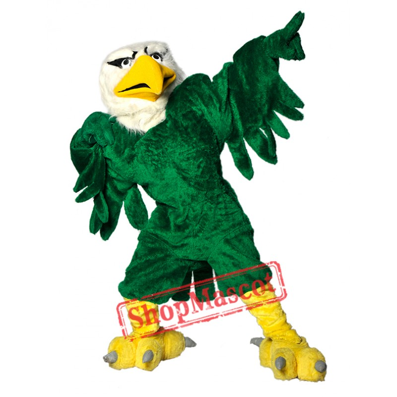 Green University Eagle Mascot Costume