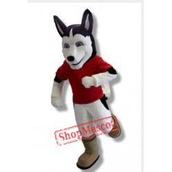 University Husky Dog Mascot Costume