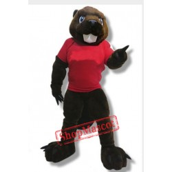 Power Beaver Mascot Costume