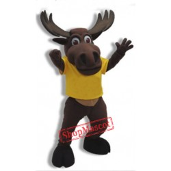College Moose Mascot Costume Free Shipping