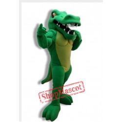Power Muscular Gator Mascot Costume