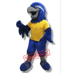 College Blue Hawk Mascot Costume