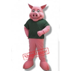 College Pink Pig Mascot Costume
