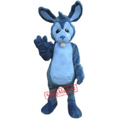 High Quality Blue Rabbit Mascot Costume