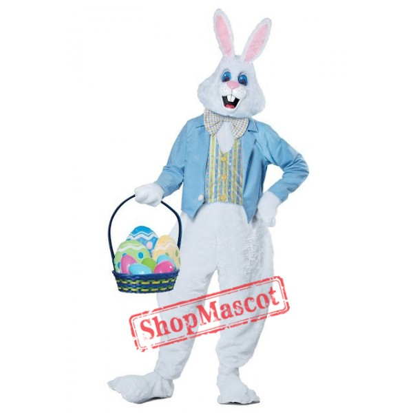 Blue Easter Bunny Mascot Costume Free Shipping