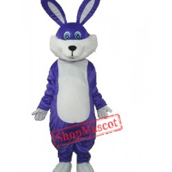 Purple Rabbit Plush Adult Mascot Costume
