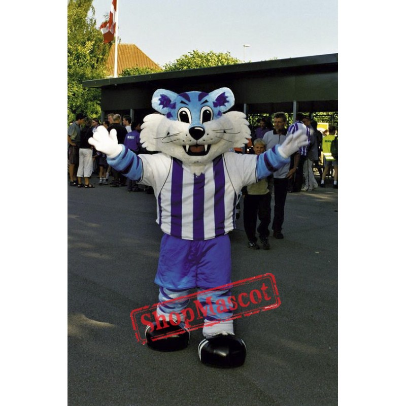 College Blue Tiger Mascot Costume