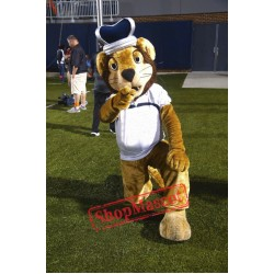 College King Lion Mascot Costume