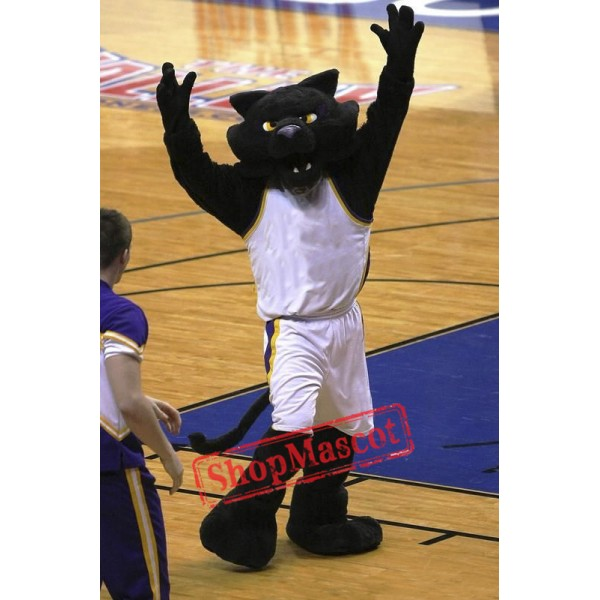 College Black Panther Mascot Costume