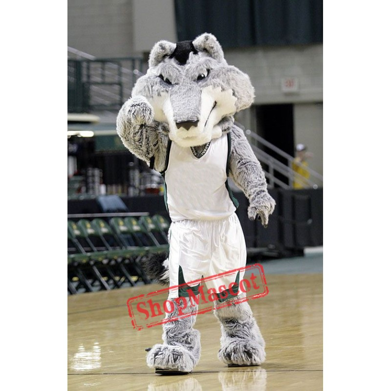 College Fierce Wolf Mascot Costume