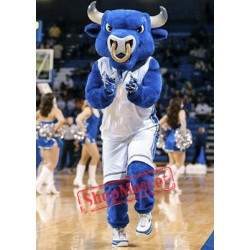 College Blue Bull Mascot Costume