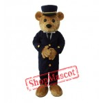 Gentleman Teddy Bear Mascot Costume