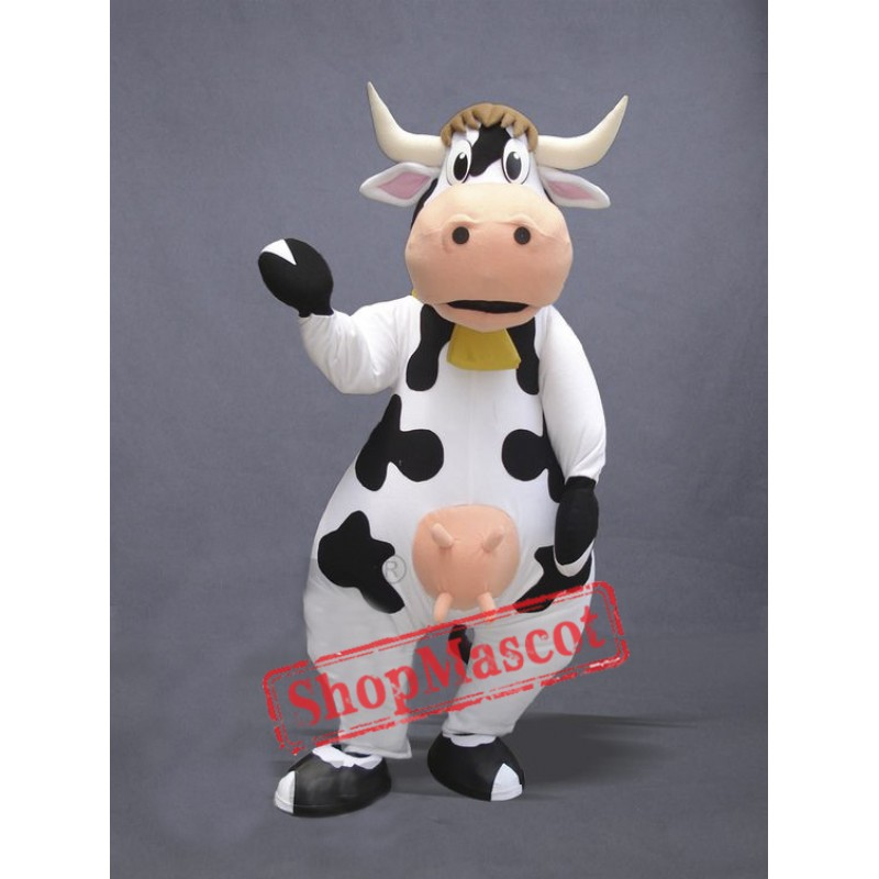 Super Cute Cow Mascot Costume