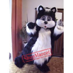 High Quality Black & White Cat Mascot Costume