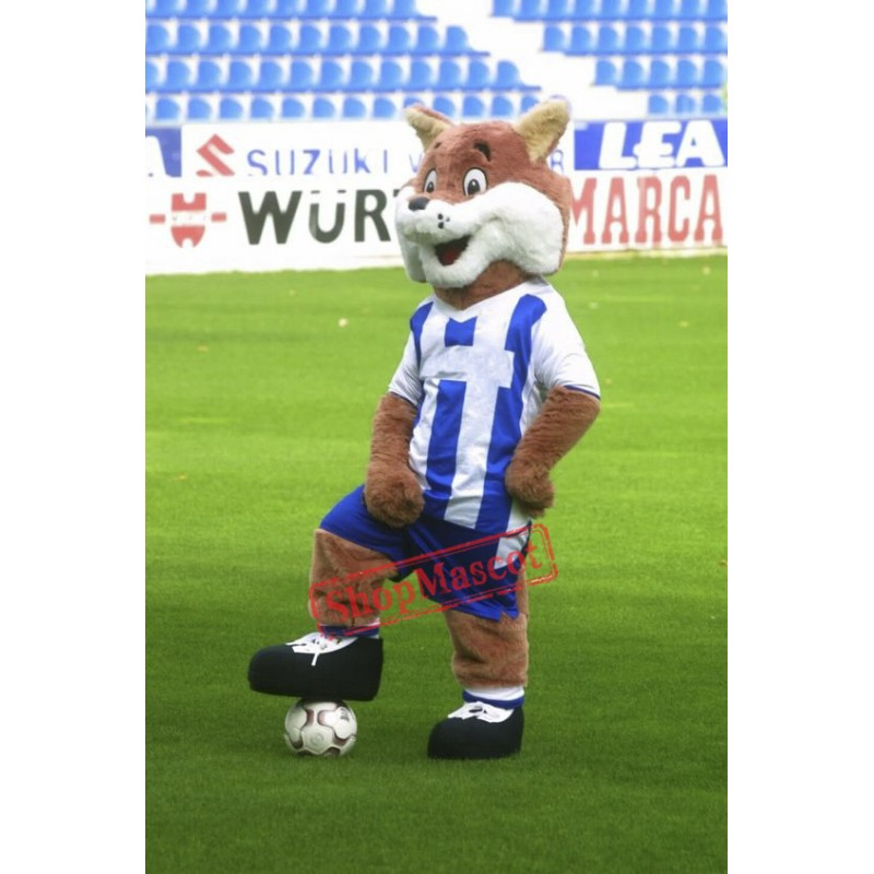 Football Fox Mascot Costume