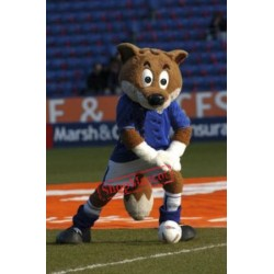 Adult Football Fox Mascot Costume