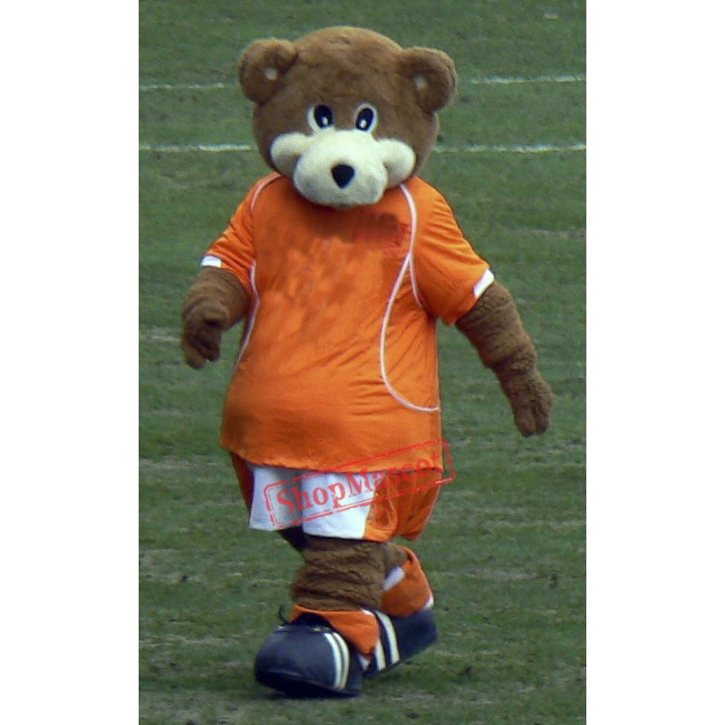 Football Bear Mascot Costume