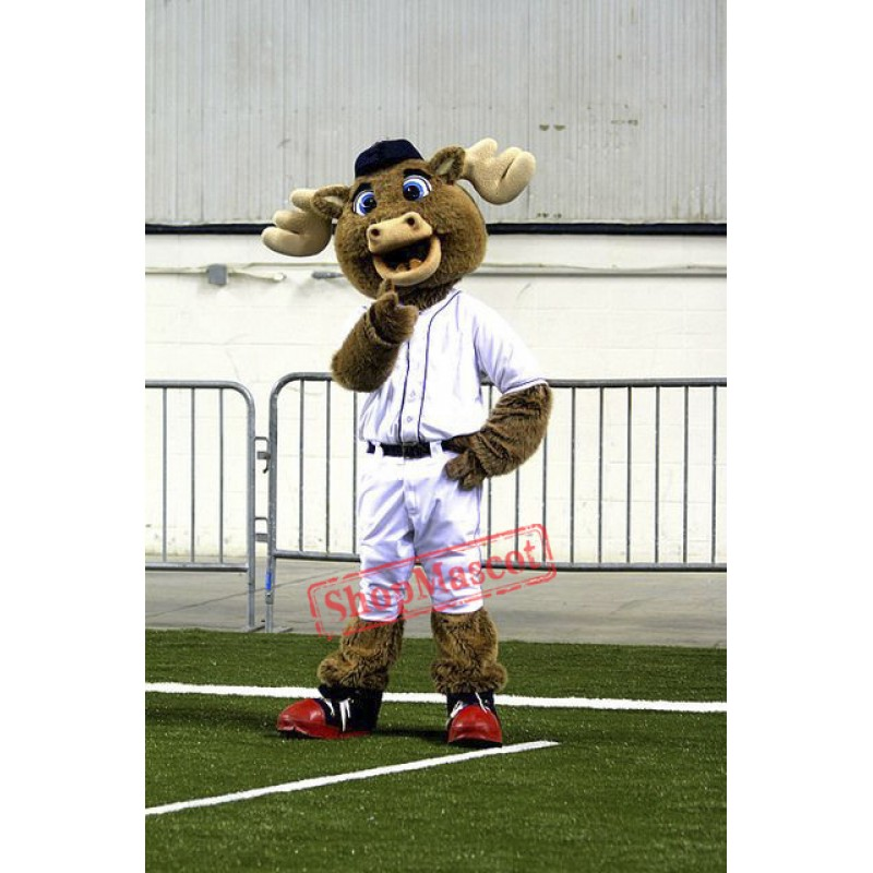 Baseball Moose Mascot Costume