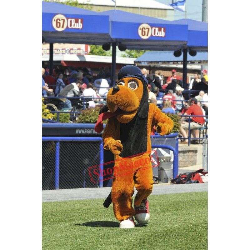 College Hound Dog Mascot Costume