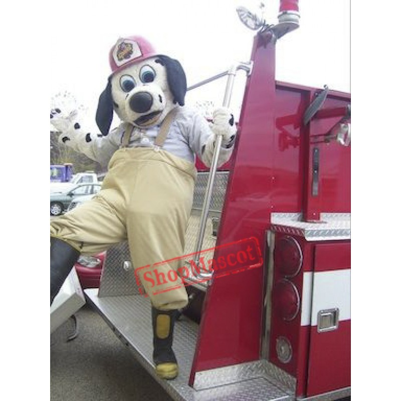 The Fire Chief Dalmatian Dog Mascot Costume