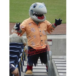 College Shark Mascot Costume